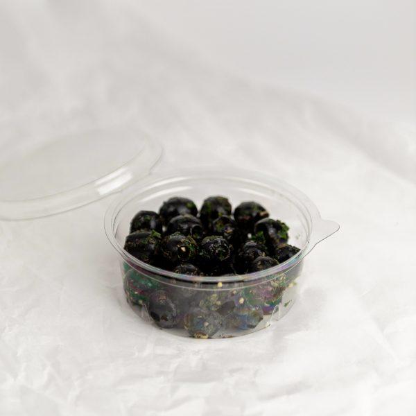 Zwarte olijven   Knoflook