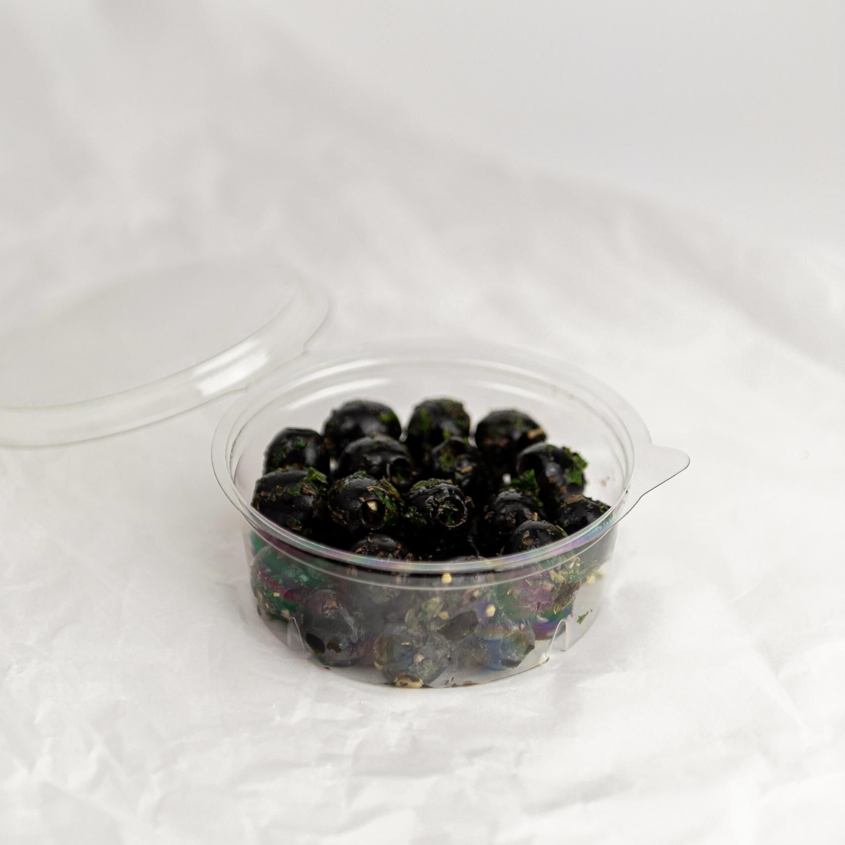 Zwarte olijven | Knoflook