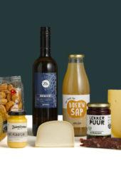 Kerstpakket Boerderij met verschillende boerenproducten